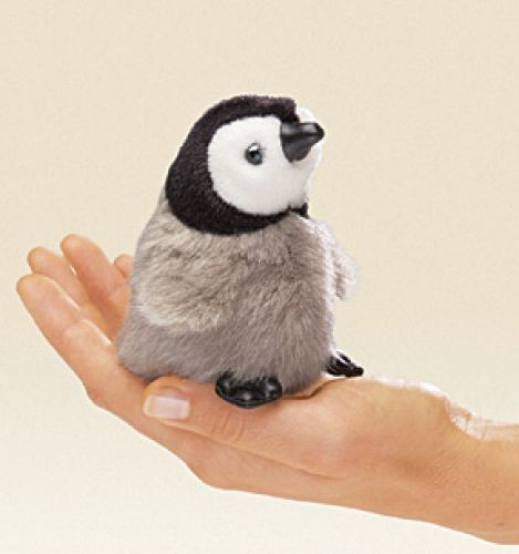 Folkmanis Fingerpuppe Mini Kaiserpinguin Baby