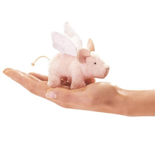 Folkmanis Fingerpuppe Schwein mit Flügeln