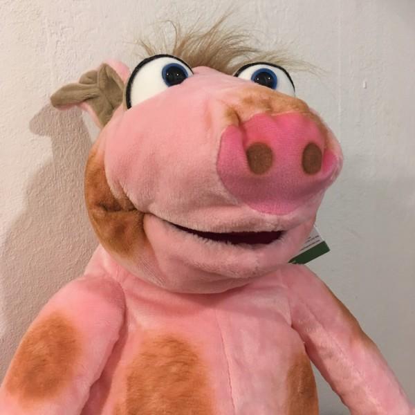 Handpuppe Schweinchen Stulle