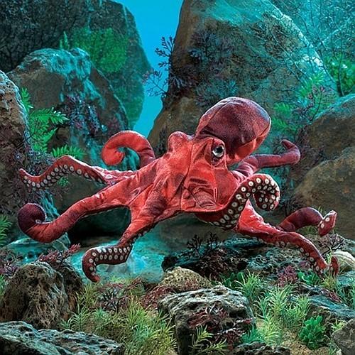 Folkmanis Handpuppe roter Oktopus