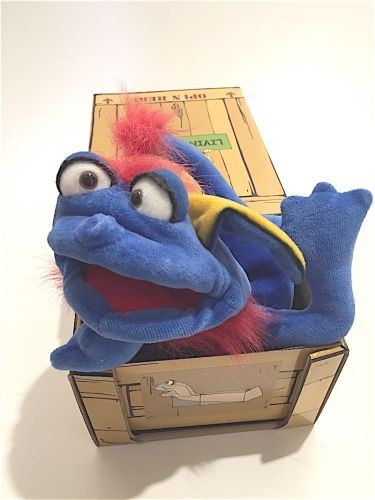 Living Puppets Handpuppe Crazy Blue in der Box