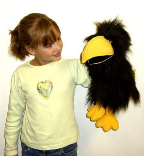 Handpuppe Krähe / Rabe von The Puppet Company