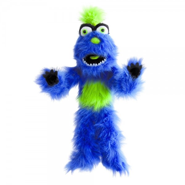 Handpuppe blaues Monster von The Puppet Company