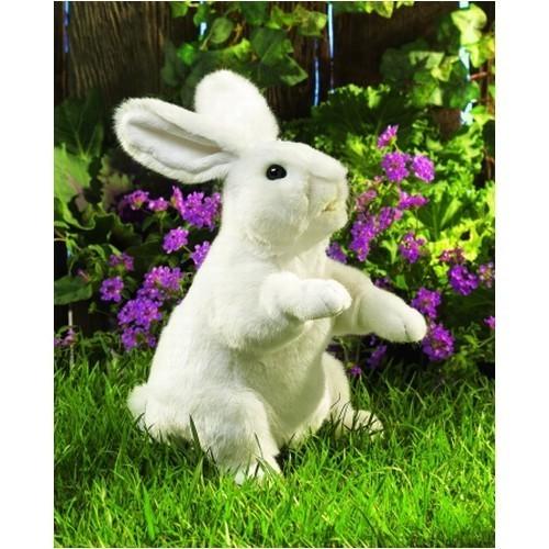 Folkmanis Handpuppe Weißer Hase, stehend