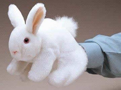 Folkmanis Handpuppe Weißes Häschen