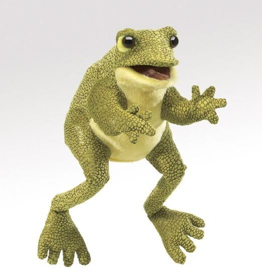 Folkmanis Handpuppe lustiger Frosch