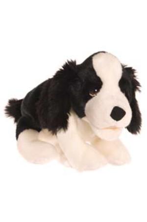 Living Puppets Handpuppe kleiner Hund schwarz-weiß