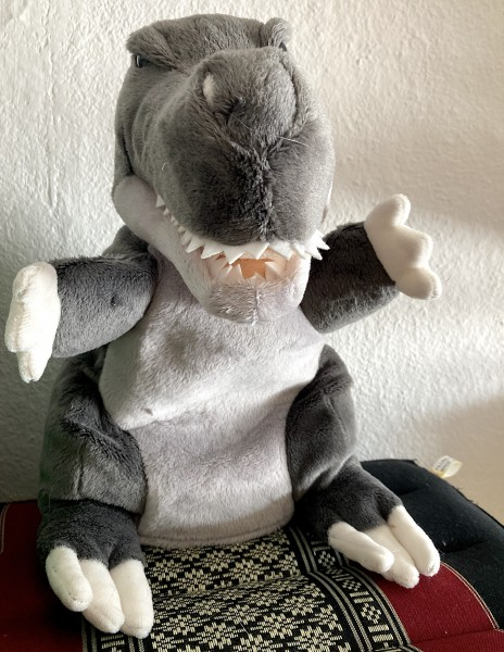 Handpuppe T-Rex Dinosaurier von Trudi