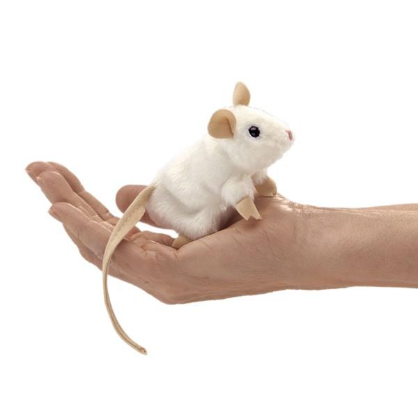 Folkmanis Fingerpuppe weisse Maus