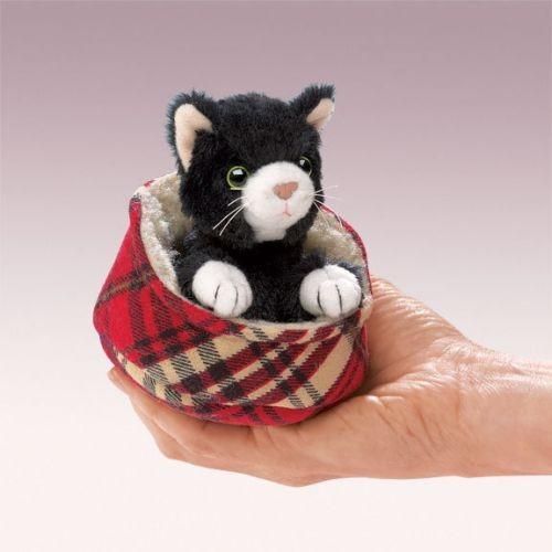 Folkmanis Fingerpuppe Kätzchen im Bett