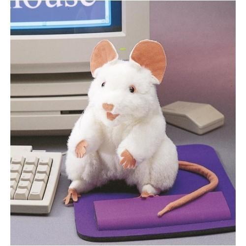 Folkmanis Handpuppe weiße Maus