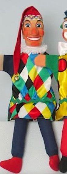 Kasperle kariert von GiScha mit Beinen 45cm