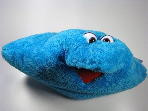 Living Puppets Kissen Wunschtraumkuschelmuschelkissen blau