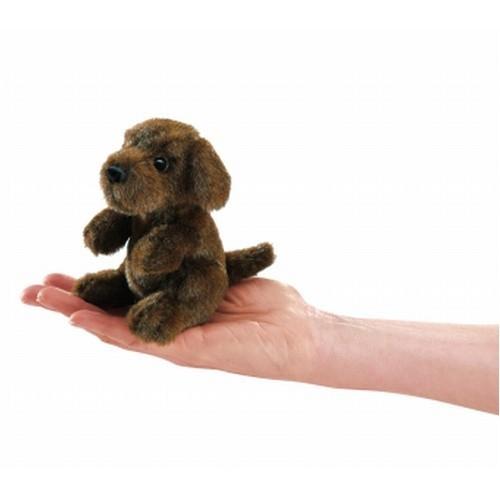 Folkmanis Fingerpuppe Mini sitzender Hund
