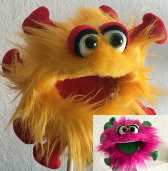 2er- Set Living Puppets Kai M. Frei + Gisa Grippchen Handpuppe Plappermaul