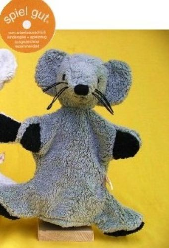 Handpuppe graue Maus von Kallisto