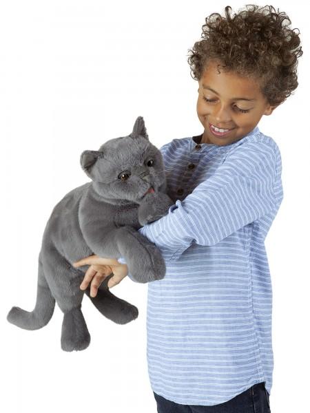 Folkmanis Handpuppe Schnurrende Katze / Purring Cat