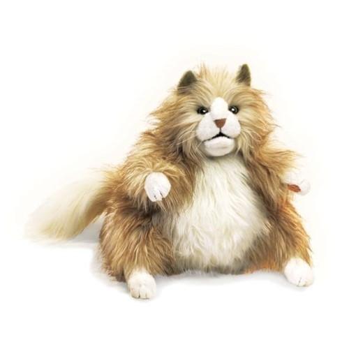 Folkmanis Handpuppe flauschige Katze