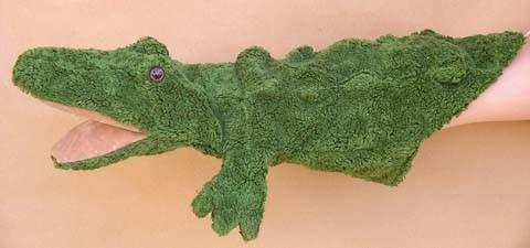 Handpuppe Krokodil von Kallisto