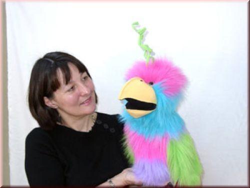 Handpuppe Paradiesvogel von The Puppet Company