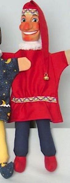 Kasperle rot von GiScha mit Beinen 45cm