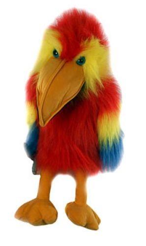Handpuppe Papagei rot von The Puppet Company