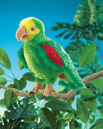 Folkmanis Handpuppe Amazonas Papagei