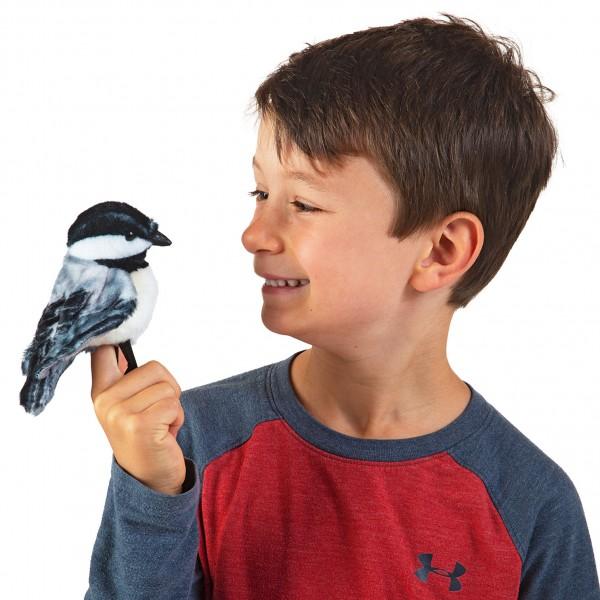 Folkmanis Fingerpuppe Mini Meise Vogel