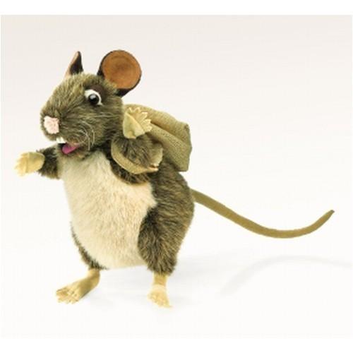 Folkmanis Handpuppe Ratte mit Rucksack