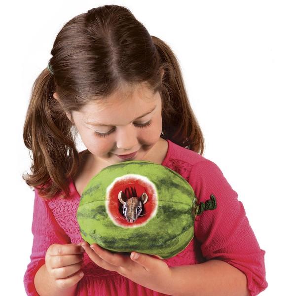Folkmanis Handpuppe Streifenhörnchen in Melone