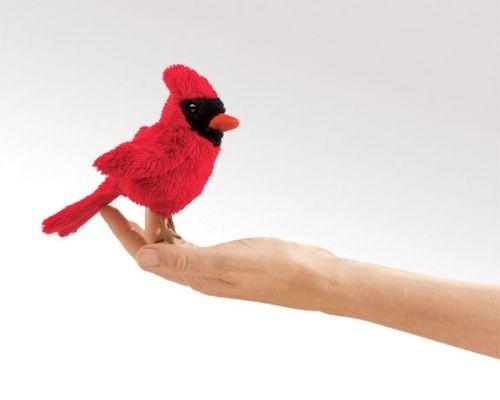 Fingerpuppe Kardinalvogel von Folkmanis