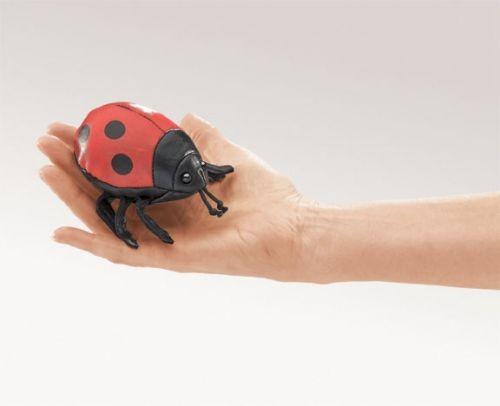 Folkmanis Fingerpuppe Mini Marienkäfer