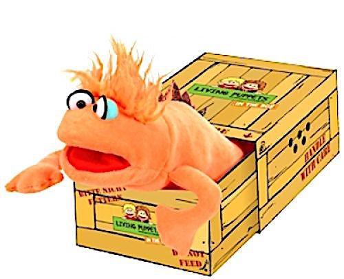 Living Puppets Handpuppe Mr. Orange in der Box