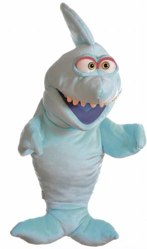 Handpuppe blauer Hai aus der Wiwaldi Show