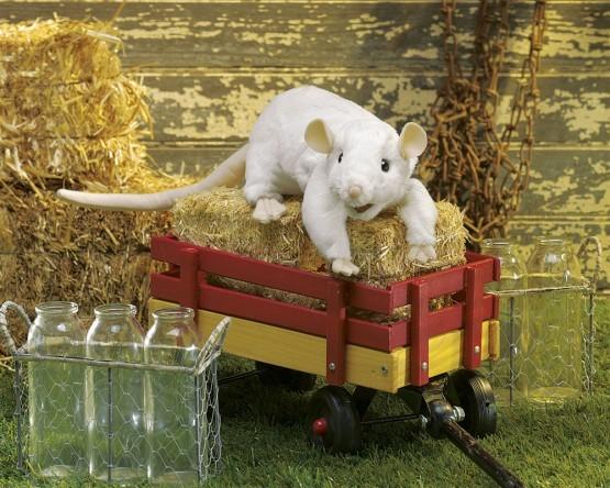 Folkmanis Handpuppe weiße Ratte