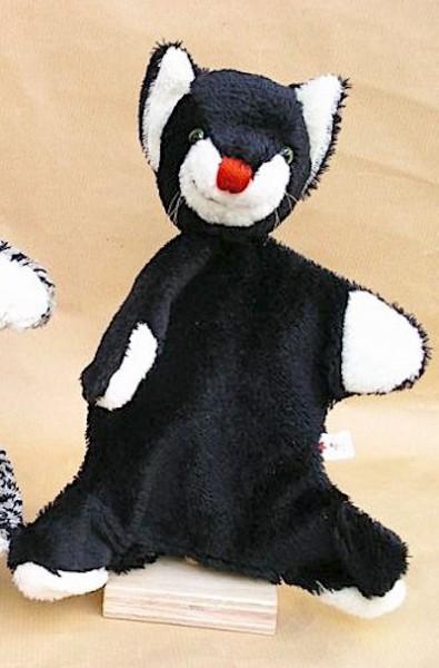 Handpuppe schwarze Katze von Kallisto