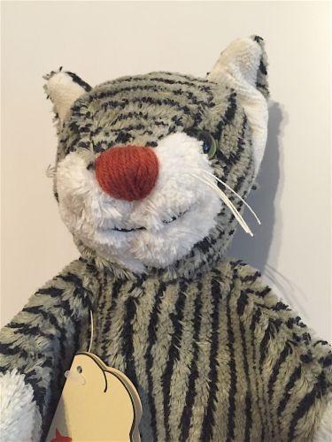 Handpuppe graue gestreifte Katze von Kallisto