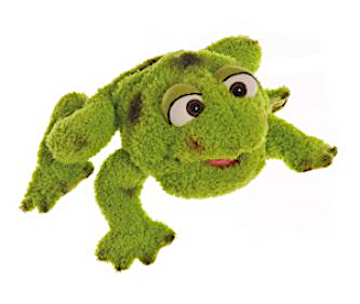 Living Puppets Handpuppe kleiner Frosch Rolf