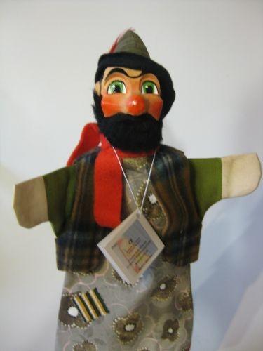 GiScha Kasperlefigur Räuber mit Bart 35cm