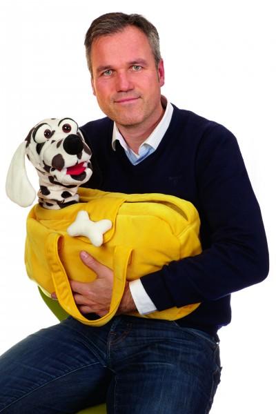 Living Puppets Handpuppe Herr Schulze in der Tasche W535