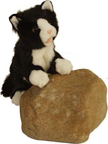 Living Puppets Handpuppe schwarzweiße Katze