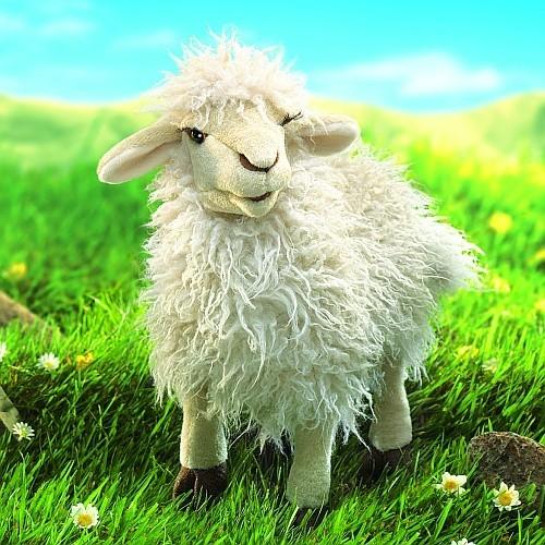 Folkmanis Handpuppe Schaf mit langen Haaren