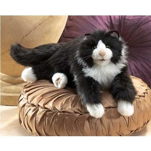 Folkmanis Handpuppe schwarz-weiße Tuxedo Katze