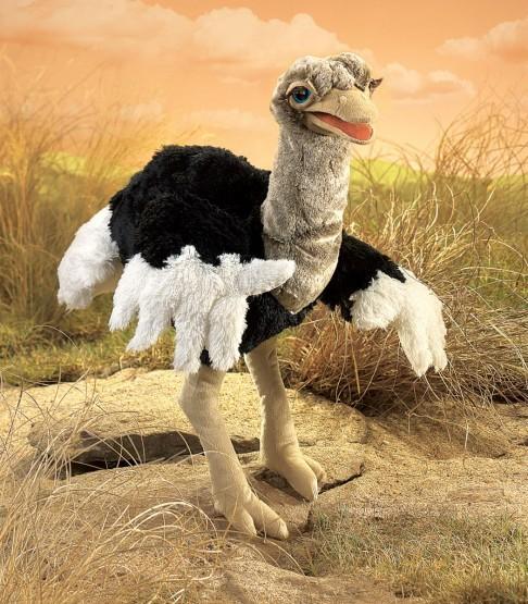 Folkmanis Handpuppe Vogel Strauß