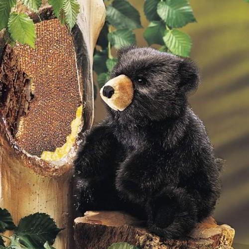 Folkmanis Handpuppe Kleiner dunkelbrauner Bär