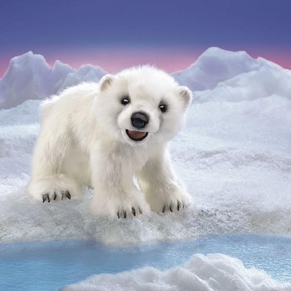 Folkmanis Handpuppe Eisbärenjunges / Polar Bear Cub