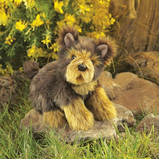 Folkmanis Handpuppe Yorkshire Terrier Welpe