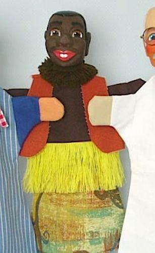 GiScha Kasperlefigur Afrikaner 35cm
