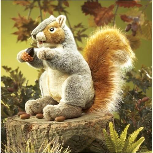 Folkmanis Handpuppe Graues Eichhörnchen