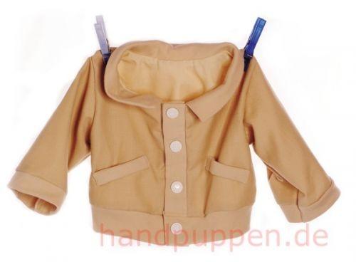 Living Puppets beige Jacke für alle 65cm Puppen